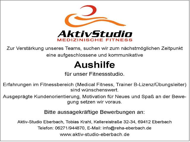 k-Stellenangebot Aktiv Studio