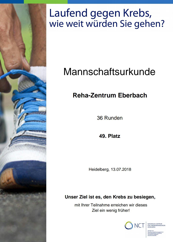 NCT Urkunde 2018